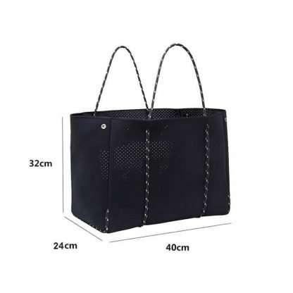 size of large neoprene tote bag