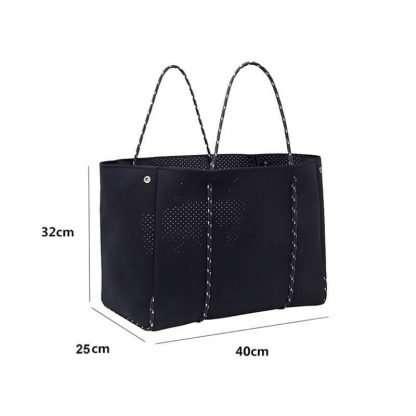 size of neoprene tote bag
