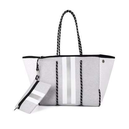 grey-striped-neoprene-tote-with-purse