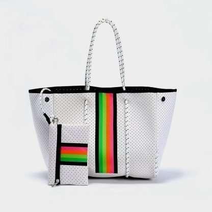 neoprene offer white tote bag