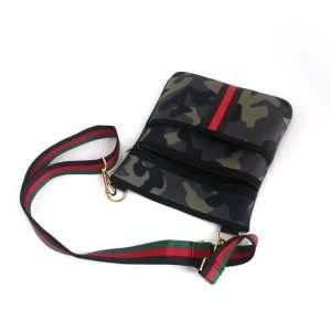 neoprene camo crossbody purse