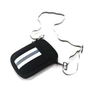 neoprene cellphone crossbody bag black